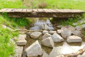 Schöner Fluss in der Nähe vom Europapark
