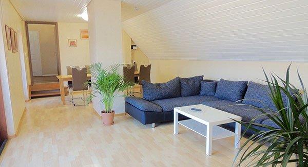Wohnzimmer der Ferienwohnung bitto bei Rust