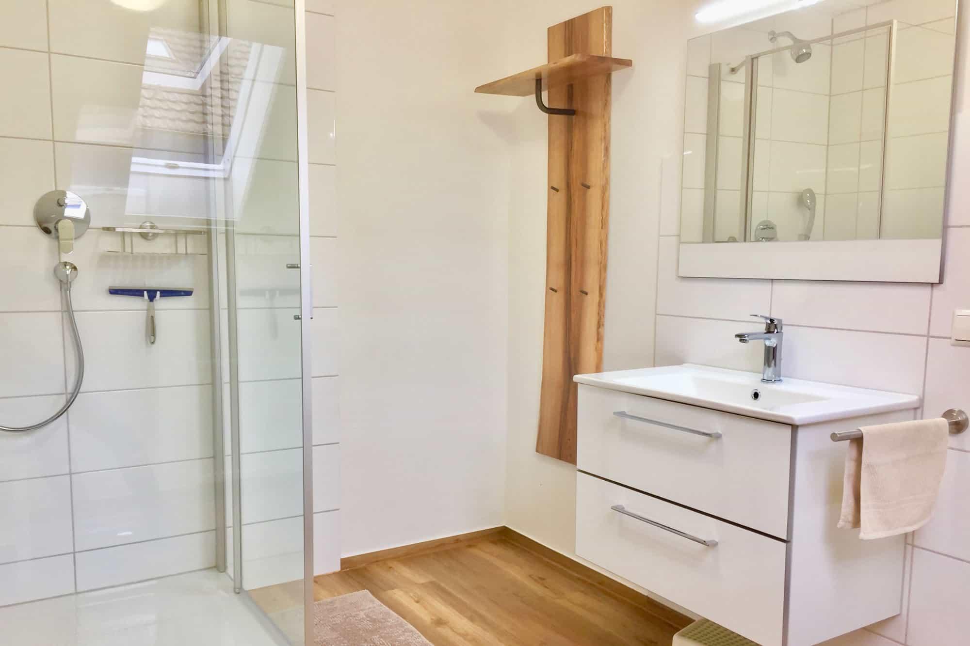 Badezimmer der ferienwohnung beim europapark bitto